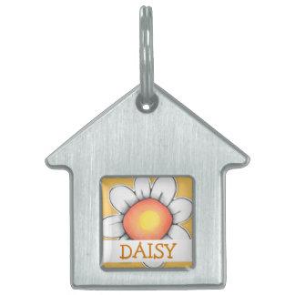 Daisy Joy yellow House Pet Tag