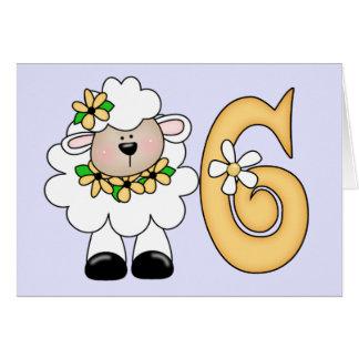 Daisy Lamb 6th Birthday Note Card