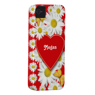 Daisy Love and Hearts Valentine iPhone 4 Case-Mate Case