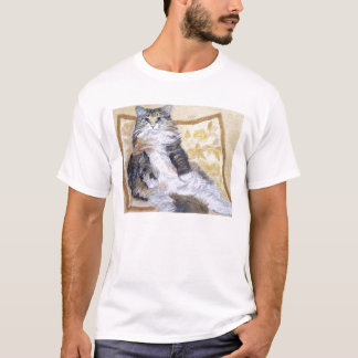 Daisy Mae Maine Coon Cat Portrait T-Shirt