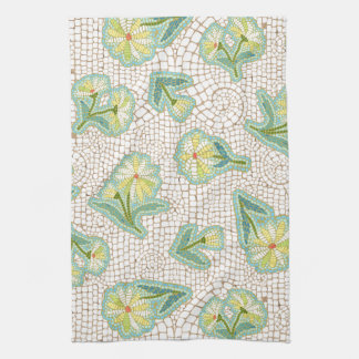 "Daisy Mosaic Kitchen Towel 16"" x 24"""