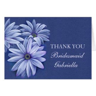 Daisy osteospermum wedding bridesmaid thank you card
