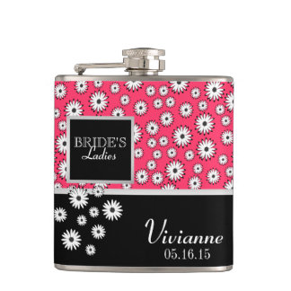Daisy Pattern Bridesmaid Flask