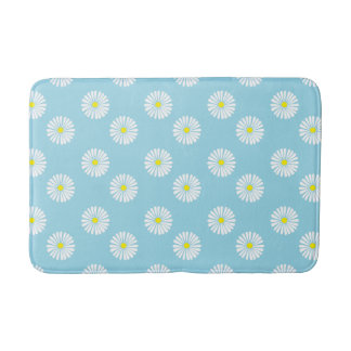 Daisy Pattern Foam Bathmat
