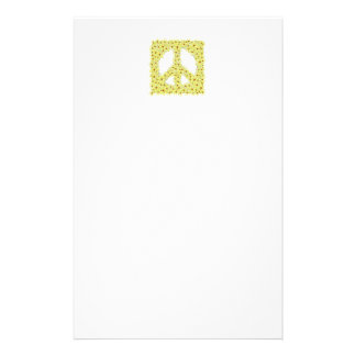 "Daisy  peace sign 5.5"" x 8.5"" stationery"