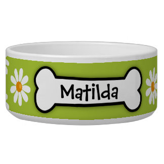 """Daisy"" Personalized Dog Bowl"