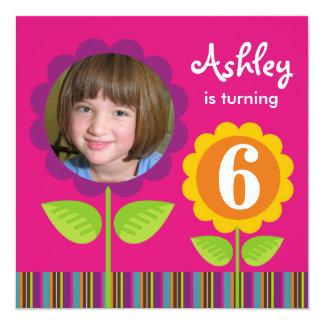 Daisy Photo Card Party Invitation