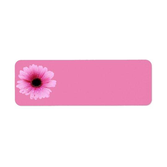 Daisy Pink Return Address Label