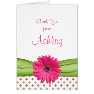 Daisy Polka Dot Daisy Bat Mitzvah Thank You Card