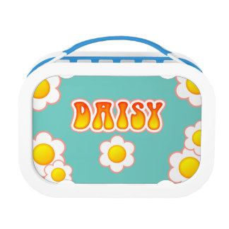 Daisy Pretty 70s Retro Flower Design Lunch Box