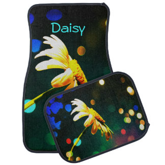 Daisy Rainbow Lights Car Mats *Personalize*