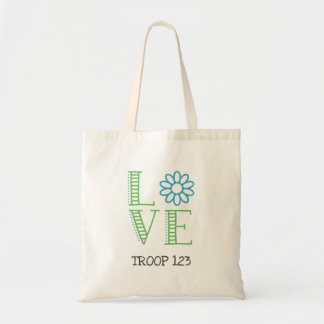 Daisy Scout Love Troop Number Tote