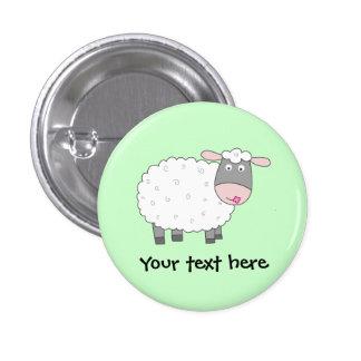 Daisy Sheep 1 Inch Round Button
