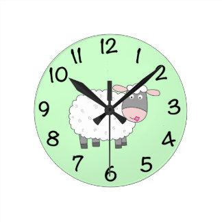 Daisy Sheep Wallclock