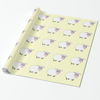 Daisy Sheep Wrapping Paper