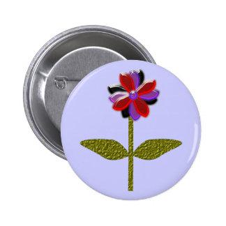 Daisy Shining Plastic Button