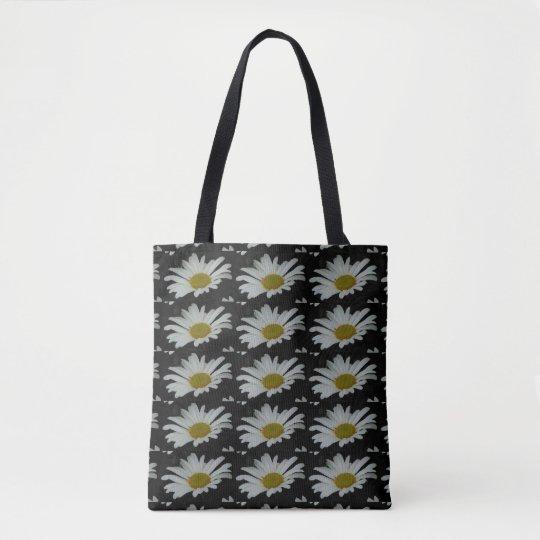 Daisy Shopping Bag Carryall Daisies Floral Totes