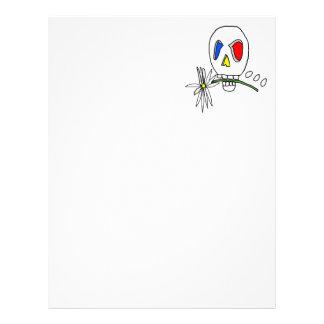 Daisy Skull Personalized Letterhead