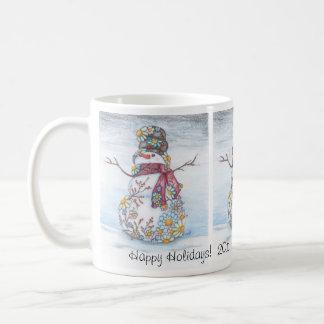 Daisy Snowman Mug 2011