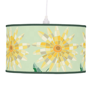 Daisy Stained Glass Pendant Lamp - Lamp