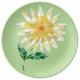 Daisy Stained Glass Plate - Plate Daisy