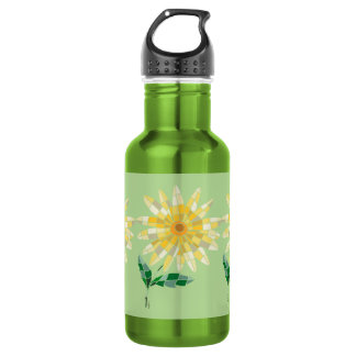 Daisy Stained Glass Water Bottle Bottle Daisy