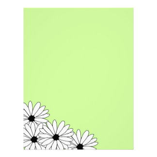 Daisy Storm Pattern Recycled Letterhead Paper 1