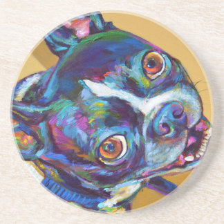 Daisy the Boston Terrier by Robert Phelps Coasters