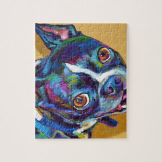 Daisy the Boston Terrier by Robert Phelps Jigsaw Puzzle