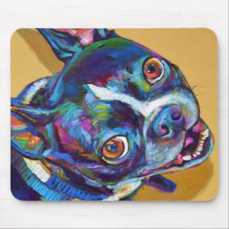 Daisy the Boston Terrier by Robert Phelps Mouse Pad
