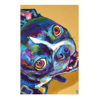 Daisy the Boston Terrier by Robert Phelps Personalized Stationery