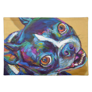 Daisy the Boston Terrier by Robert Phelps Placemat