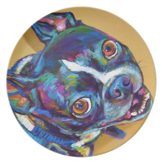 Daisy the Boston Terrier by Robert Phelps Plate