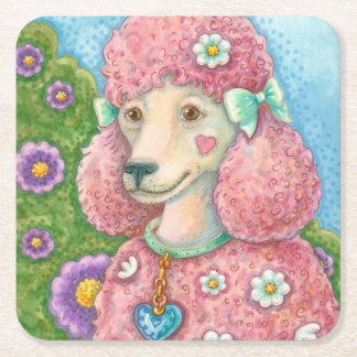 DAISY The Pink French Poodle COASTER