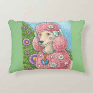 DAISY The Pink Poodle ACCENT PILLOW Border