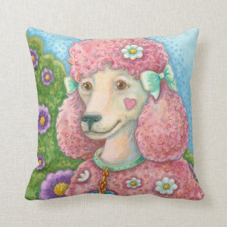 DAISY The Pink Poodle THROW PILLOW