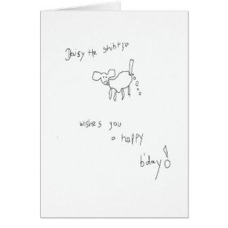 Daisy the Shih Tzu Birthday Card