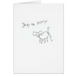 Daisy the Shih Tzu happy Card