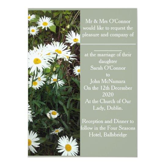 Daisy theme floral wedding Invitation