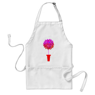 Daisy Topiary in Pinks Standard Apron