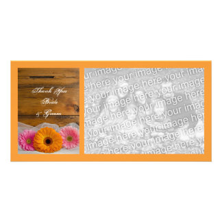 Daisy Trio Country Barn Wedding Thank You Card