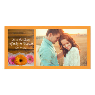 Daisy Trio Country Wedding Save the Date Photo Photo Cards
