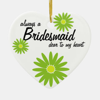 Daisy Wedding Bridesmaid Ceramic Ornament