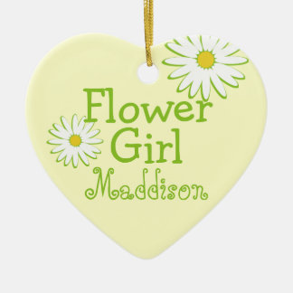 Daisy Wedding Flower Girl Ceramic Ornament