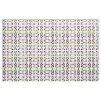 Daisy Wheel (Yellow and Purple) Fabric