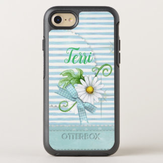 Daisy with Blue Stripes OtterBox Symmetry iPhone 8/7 Case