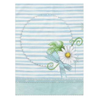 Daisy with Blue Stripes Tablecloth