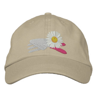 Daisy with Garden Tools Embroidered Hat
