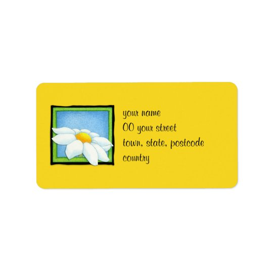 Daisy yellow Address Label