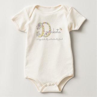 Dakota girls D name meaning monogram baby apparel Baby Bodysuit